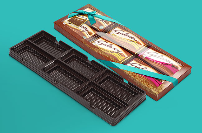 Thermoformed packaging insert for confectionery