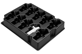 Transit trays for electronic components