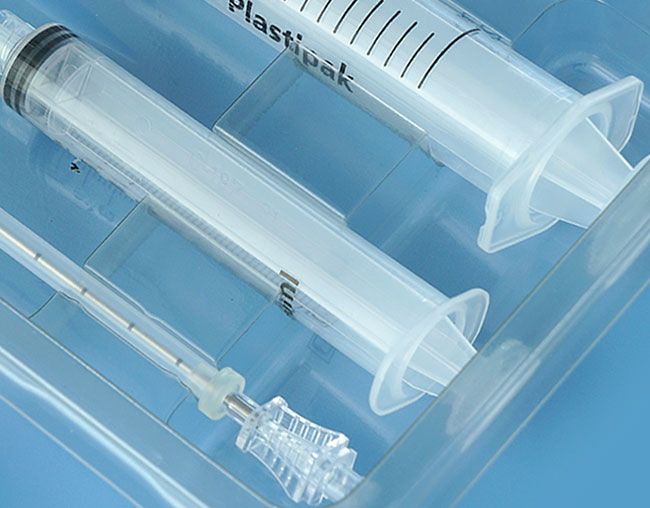 Medical syringe packaging
