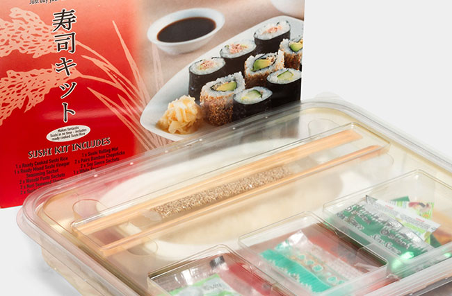 Box insert for convenience food
