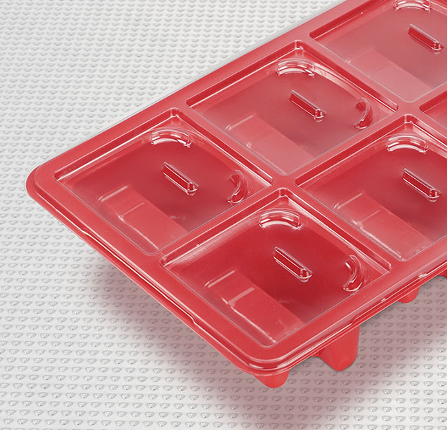 Thermoformed component tray design