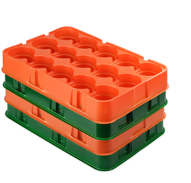 Thermoformed transit trays for manufacturing