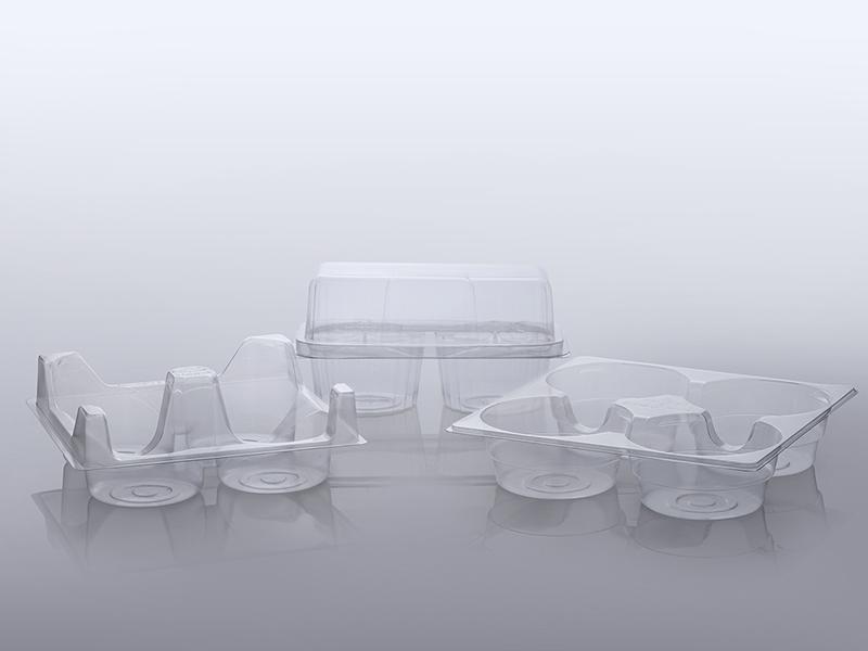 Clear bakery tray